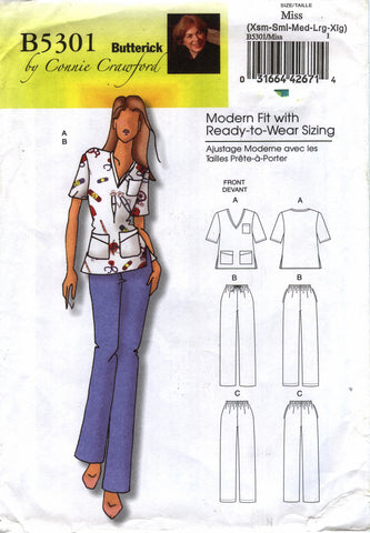 Butterick 5301 Misses'/Women's Top and Pants
