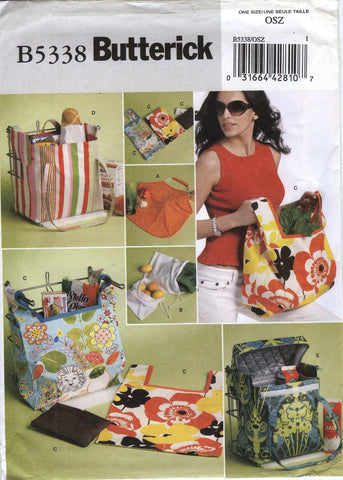 Butterick 5338 Shopping Bags, Handbags