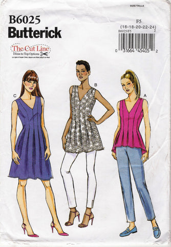 Butterick 6025 Misses' Top, Tunic, and Dress