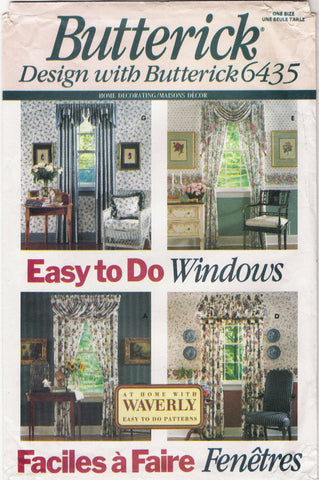 Butterick 6435 Easy to do Window Treatments