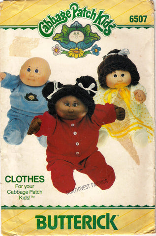 "Butterick 6507 Cabbage Patch Kids 16"" Doll Clothes"