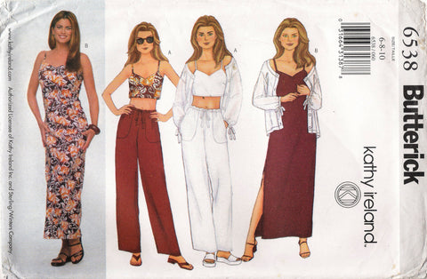 Butterick 6538 Misses'/Misses' Petite Jacket, Top, Dress and Pants
