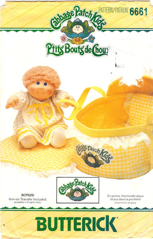 Butterick 6661 Cabbage Patch Kids Bed Carrier
