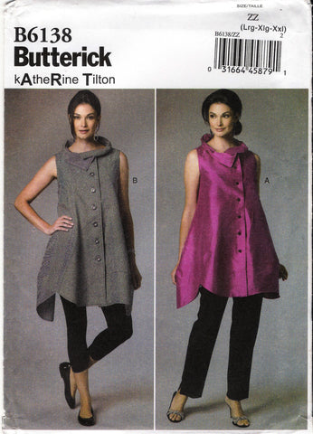 Butterick 6138 Misses' Vest - 16-18-20-22-24-26 - Smiths Depot Sewing Pattern Superstore