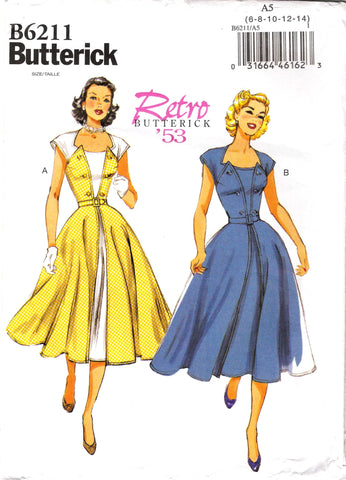 Butterick 6211 Misses' Dress and Belt - 6-8-10-12-14 - Smiths Depot Sewing Pattern Superstore