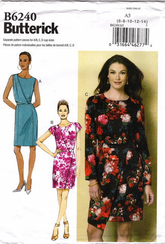 Butterick 6240 Misses' Dress - 6-8-10-12-14 - Smiths Depot Sewing Pattern Superstore  - 1