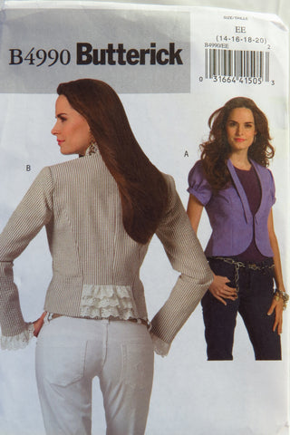 Butterick 4990 Misses' Jacket - 14-16-18-20 - Smiths Depot Sewing Pattern Superstore