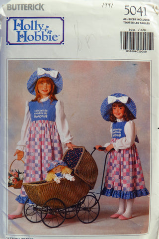 Butterick 5041 Girls' Holly Hobbie™ Costume and Transfer -  - Smiths Depot Sewing Pattern Superstore