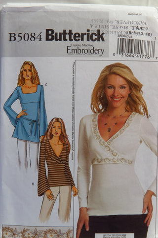 Butterick 5084 Misses' Tops, Tunic and Belt - 6-8-10-12 - Smiths Depot Sewing Pattern Superstore