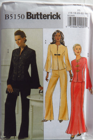 Butterick 5150 Misses' Jacket, Skirt and Pants - 16-18-20-22-24 - Smiths Depot Sewing Pattern Superstore