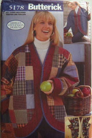Butterick 5178 Misses' Over-Sized Jackets -  - Smiths Depot Sewing Pattern Superstore