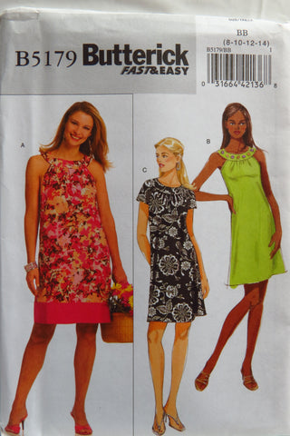 Butterick 5179 Misses'/Misses' Petite Dress -  - Smiths Depot Sewing Pattern Superstore