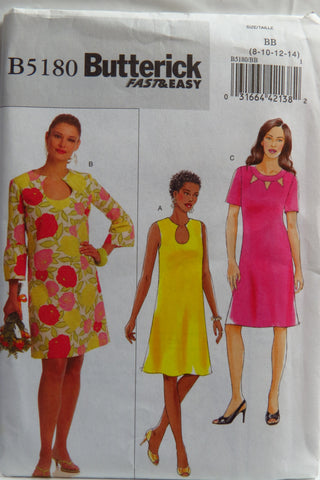 Butterick 5180 Misses'/Misses' Petite Dress -  - Smiths Depot Sewing Pattern Superstore