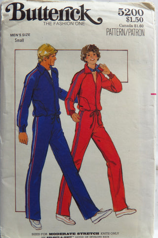 Butterick 5200 Men's Top and Pants -  - Smiths Depot Sewing Pattern Superstore