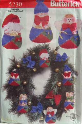 Butterick 5230 Patch Pocket Christmas Ornaments -  - Smiths Depot Sewing Pattern Superstore