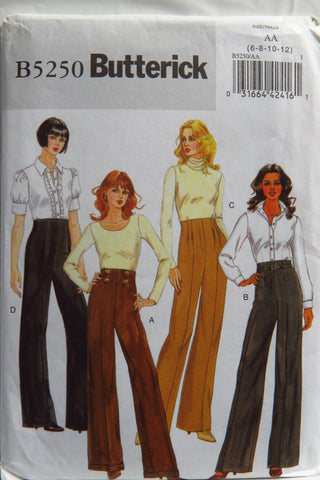 Butterick 5250 Misses'/Misses' Petite Pants and Belt - 6-8-10-12 - Smiths Depot Sewing Pattern Superstore