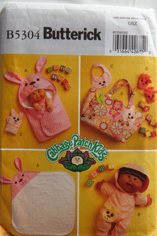 Butterick 5304 Cabbage Patch Kids® Doll Bath Items -  - Smiths Depot Sewing Pattern Superstore