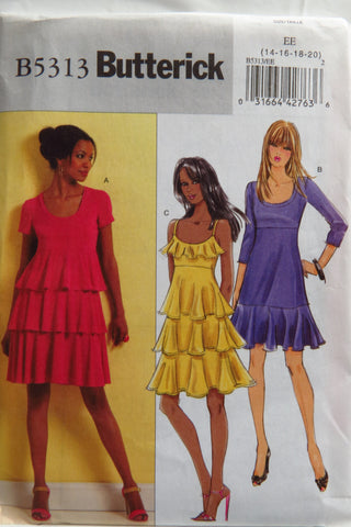 Butterick 5313 Misses' Dress - 14-16-18-20 - Smiths Depot Sewing Pattern Superstore