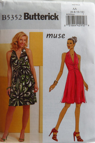 Butterick 5352 Misses' Dress - 6-8-10-12 - Smiths Depot Sewing Pattern Superstore