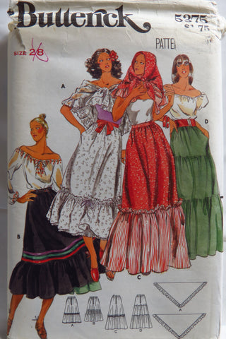 Butterick 5375 Misses' Skirt and Scarf -  - Smiths Depot Sewing Pattern Superstore