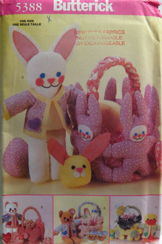 Butterick 5388 Spring Easter Baskets -  - Smiths Depot Sewing Pattern Superstore