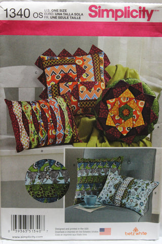 Simplicity 1340 Decorative Pillows -  - Smiths Depot Sewing Pattern Superstore