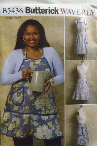 Butterick 5436 Misses' Aprons -  - Smiths Depot Sewing Pattern Superstore