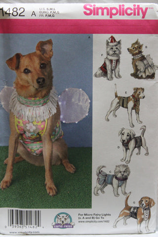 Simplicity 1482 Dog Clothes and Costumes in Three Sizes -  - Smiths Depot Sewing Pattern Superstore