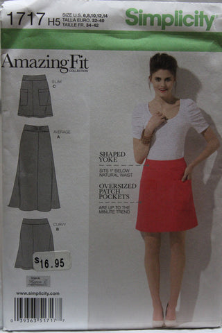 Simplicity 1717 Misses' Amazing Fit Skirt - H5 (6-8-10-12-14) - Smiths Depot Sewing Pattern Superstore  - 2