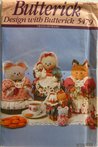 Butterick 5479 Critter Cookie Jar and Tin Covers -  - Smiths Depot Sewing Pattern Superstore