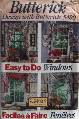 Butterick 5480 Window Treatments -  - Smiths Depot Sewing Pattern Superstore