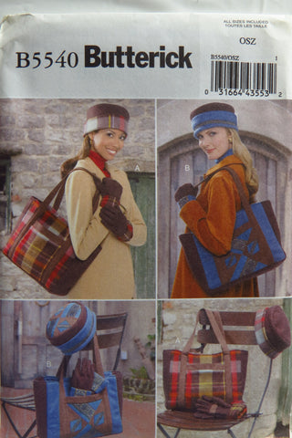 Butterick 5540 Tote, Hat and Gloves -  - Smiths Depot Sewing Pattern Superstore