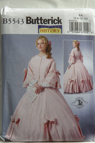 Butterick 5543 Misses' Civil War Costume - 6-8-10-12 - Smiths Depot Sewing Pattern Superstore  - 1