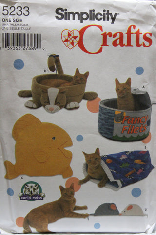 Simplicity 5233 Cat Beds -  - Smiths Depot Sewing Pattern Superstore