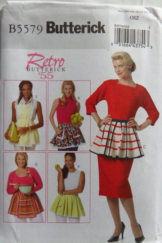 Butterick 5579 Retro '55 Apron -  - Smiths Depot Sewing Pattern Superstore