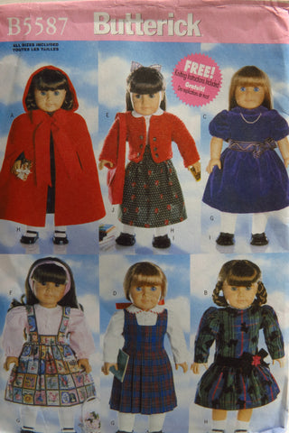 "Butterick 5587 18"" Doll Clothes -  - Smiths Depot Sewing Pattern Superstore"