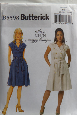 Butterick 5598 Misses' Dress and Belt - 8-10-12-14 - Smiths Depot Sewing Pattern Superstore