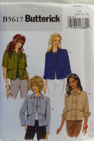 Butterick 5617 Misses' Jacket - 6-8-10-12 - Smiths Depot Sewing Pattern Superstore  - 1