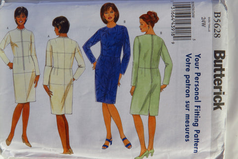 Butterick 5628 Women's Fitting Shell and Dress - 24W - Smiths Depot Sewing Pattern Superstore  - 1