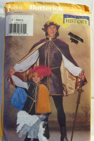 Butterick 5656 Men's Renaissance Costume -  - Smiths Depot Sewing Pattern Superstore