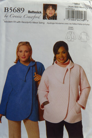 Butterick 5689 Misses'/Women's Jacket - XS-S-M-L-XL - Smiths Depot Sewing Pattern Superstore  - 1