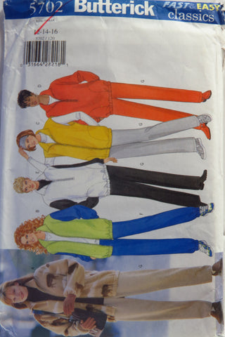 Butterick 5702 Misses'/Misses' Petite Jacket, Vest and Pants -  - Smiths Depot Sewing Pattern Superstore