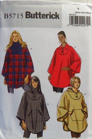 Butterick 5715 Misses' Cape - XS-S-M - Smiths Depot Sewing Pattern Superstore  - 1