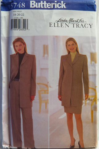 Butterick 5748 Misses'/Misses' Petite Jacket, Skirt and Pants - 18-20-22 - Smiths Depot Sewing Pattern Superstore