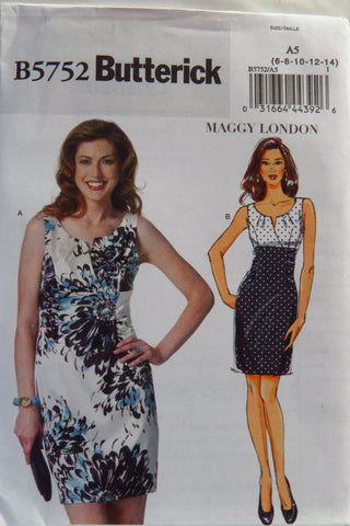 Butterick 5752 Misses' Dress - 6-8-10-12-14 - Smiths Depot Sewing Pattern Superstore  - 1
