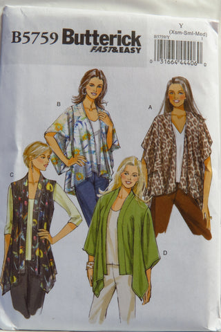 Butterick 5759 Misses' Jacket - XS-S-M - Smiths Depot Sewing Pattern Superstore  - 1