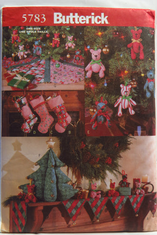 Butterick 5783 A Traditional Christmas Decorations -  - Smiths Depot Sewing Pattern Superstore