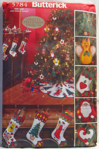 Butterick 5784 An Old Fashion Felt Christmas Decorations -  - Smiths Depot Sewing Pattern Superstore
