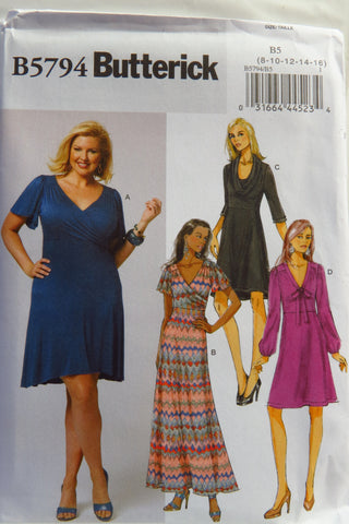 Butterick 5974 Misses'/Women's Dress - 8-10-12-14-16 - Smiths Depot Sewing Pattern Superstore  - 1