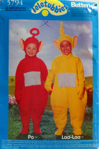 Butterick 5794 Teletubbies™ Po™ and Laa-Laa™ Costume Pattern -  - Smiths Depot Sewing Pattern Superstore